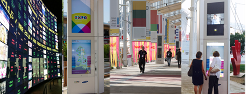 Digital Signage: l'expertise di Gruppo Project a Expo 2015